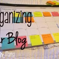 Organizing your Blog