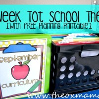 "Our Homeschool ""Tot School"" 34 Week THEME Plan {with free weekly planner}"