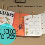 Tot School Week 4: Dinosaur Theme