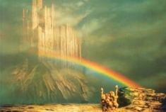"Bifrost (pronounced roughly ""BEEF-roast;"" Old Norse Bifröst) is the rainbow bridge that connects Asgard, the world of the Aesir tribe of gods, with Midgard, the world of humanity. Bifrost is guarded by the ever-vigilant god Heimdall. During Ragnarok, the giants breach Heimdall's defenses and cross the bridge to storm Asgard and slay the gods. The etymology of the word is uncertain. The original form of the name seems to be Bilröst,[1][2] which suggests a meaning along the lines of ""the fleetingly glimpsed rainbow.""[3] If Bifröst is correct, however, the meaning would be something akin to ""the shaking or trembling rainbow."" In either case, the word points to the ephemeral and fragile nature of the bridge."