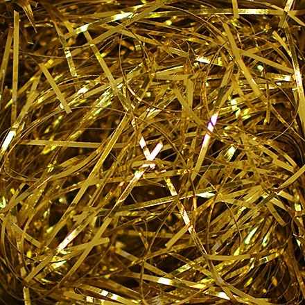 crinkle paper gold metallic