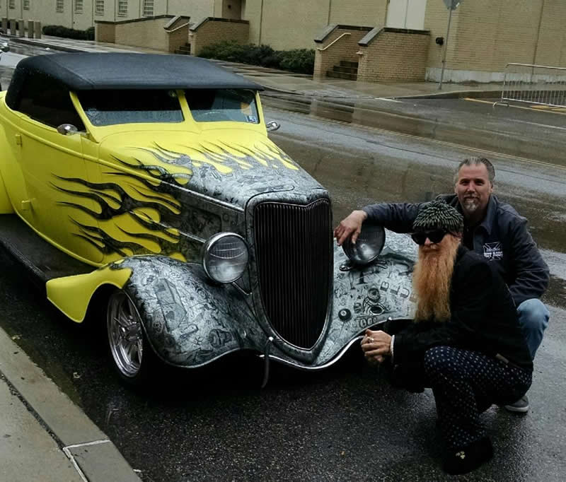 Pinstriping and Lettering by the THE PAINT CHOP Casey Kennell