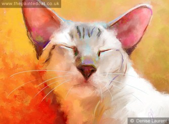 a contemporary siamese cat portrait