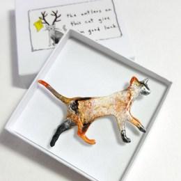 Walking Cat In A Gift Box
