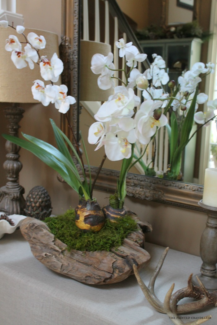 How To Make An Orchid In A Rustic Bowl Arrangement