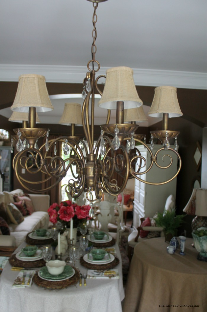 before-chandelier-dining-room