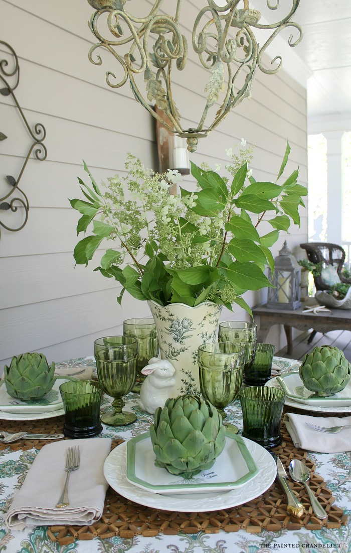 artichokes-hydrangeas-rabbit-vase-table-setting-the-painted-chandelier