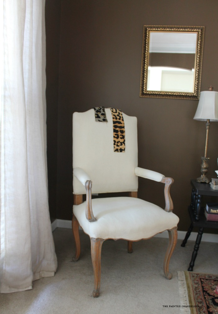 french-armchair-before-pillow-one-room-challenge-tpc