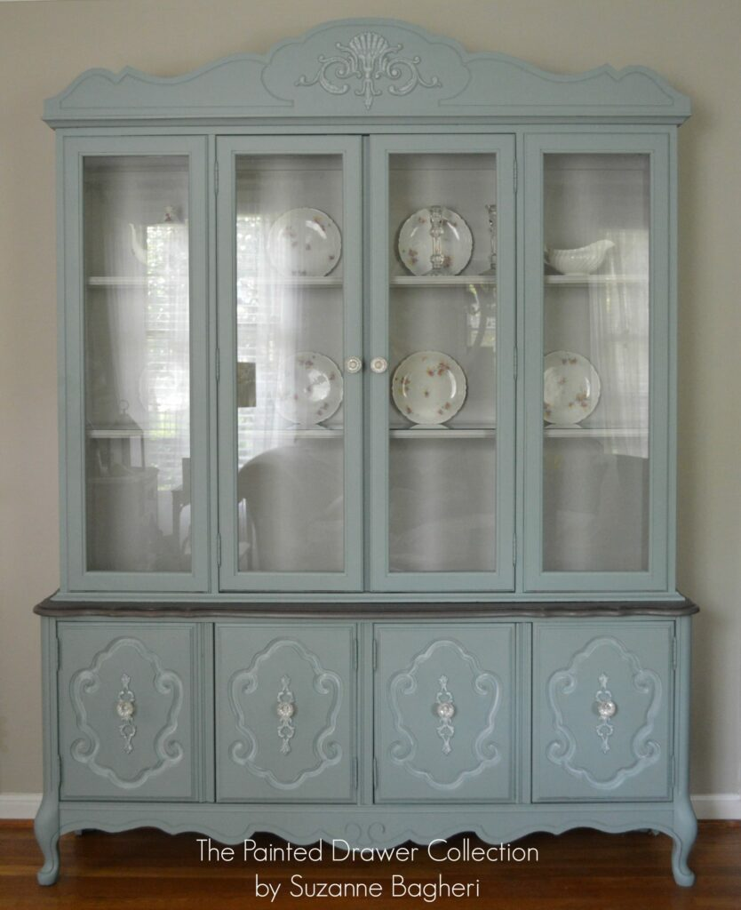 The Vintage Bassett China Cabinet  Before and After