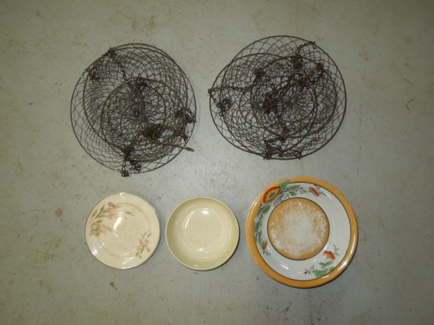 Wire baskets, plates, and bowls