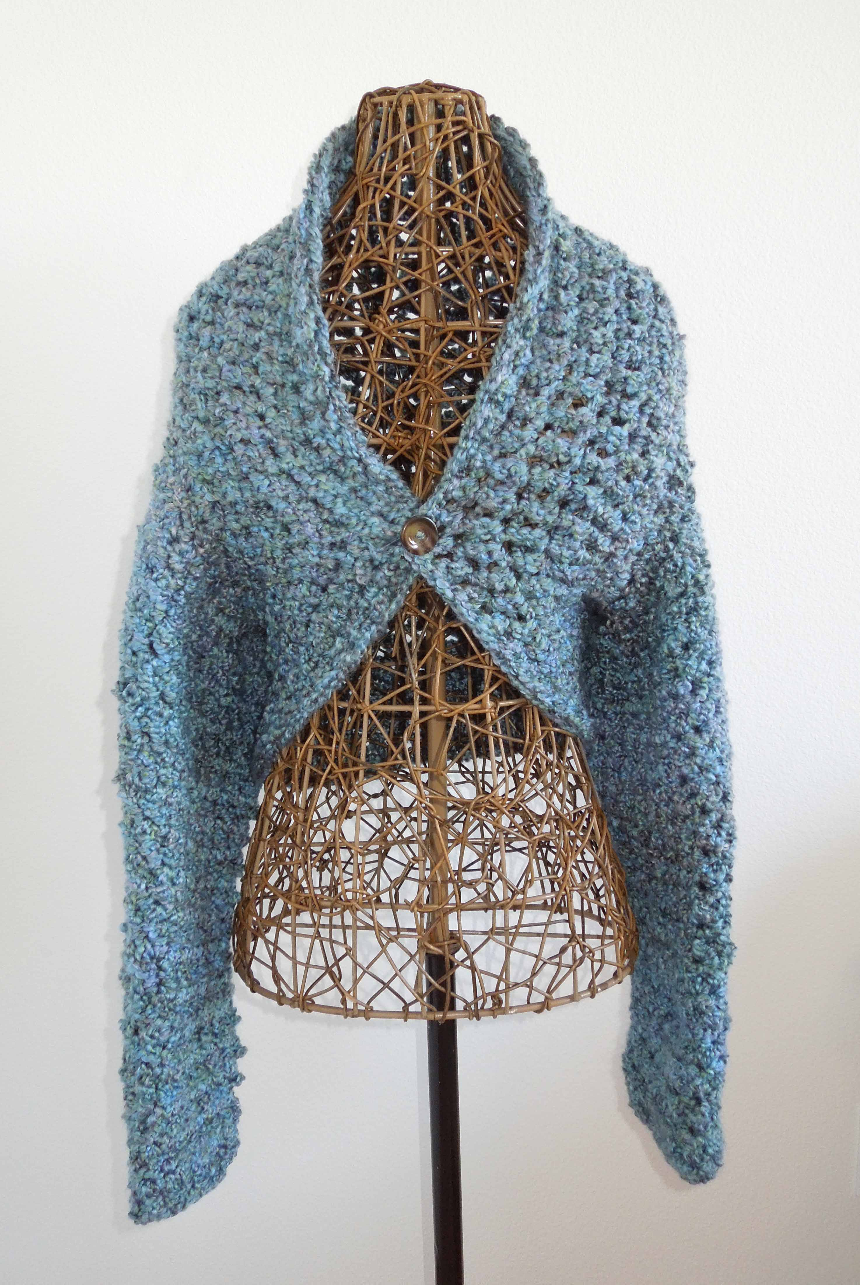 Free Crochet Pattern Simple Shrug : No Seam Shrug Free Crochet Pattern