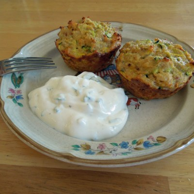 Zucchini Muffins with Green Onion Dressing Recipe