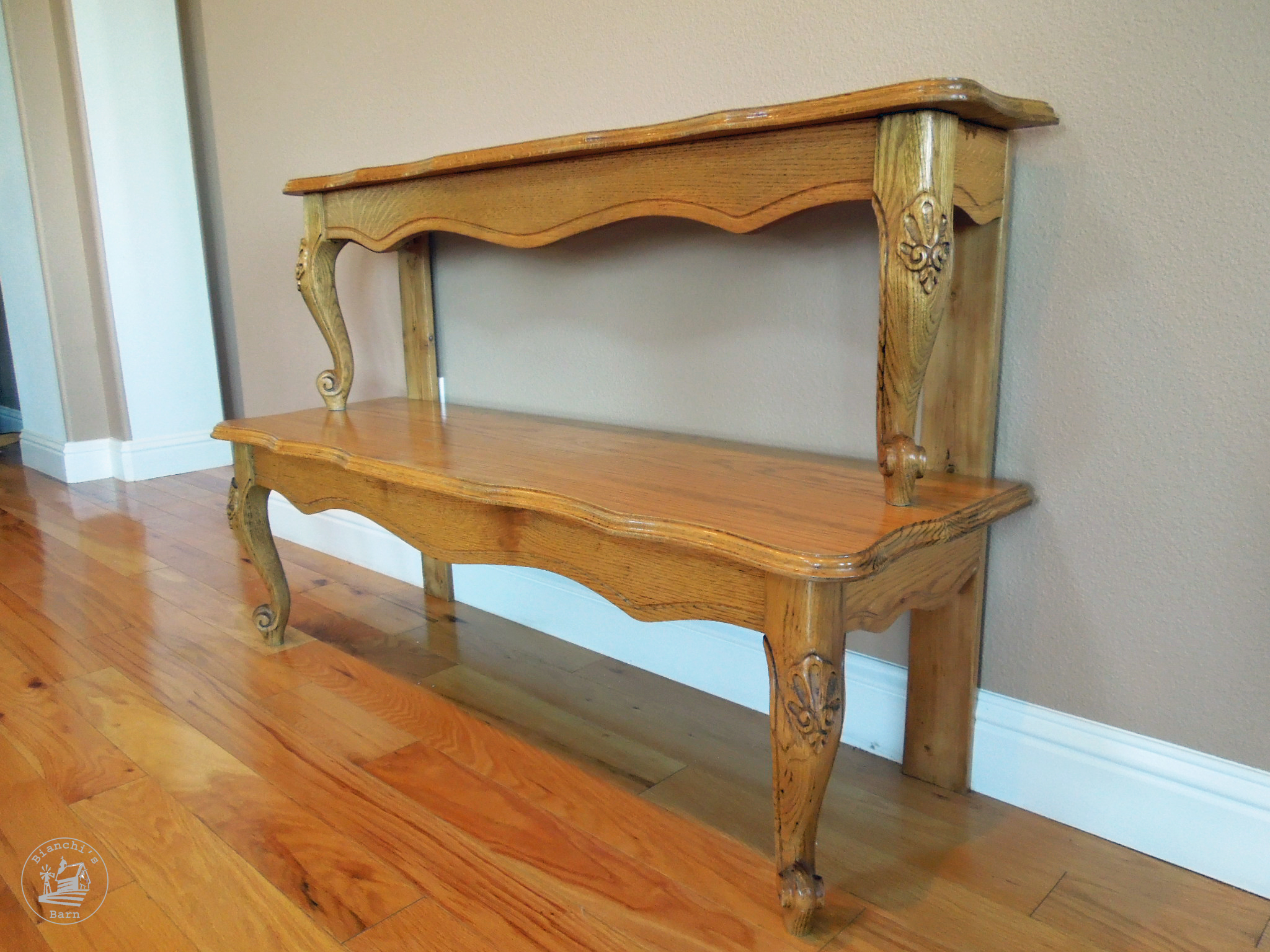 Espresso Entry Foyer Table : Entryway table from a repurposed coffee