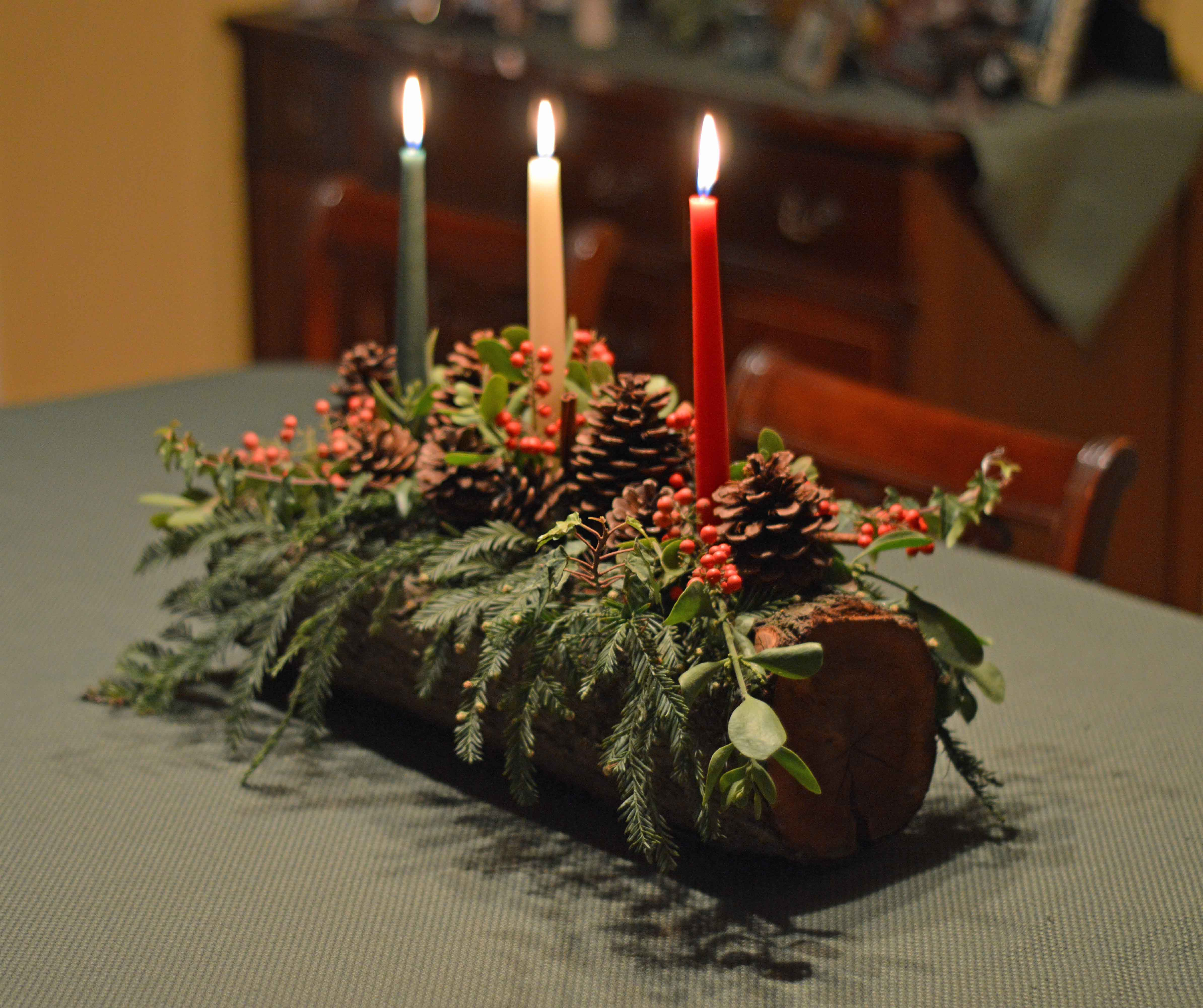 Diy yule log tutorial for Log candles diy