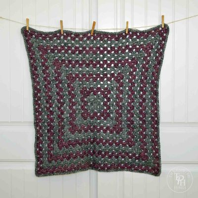 Granny Square Afghan Crochet Pattern Using Bulky Yarn
