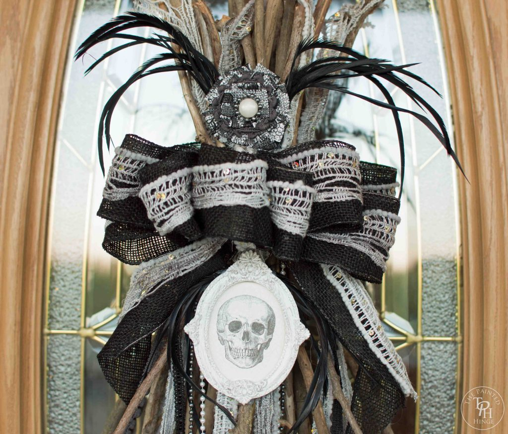 Witches Broomstick Halloween Swag Tutorial