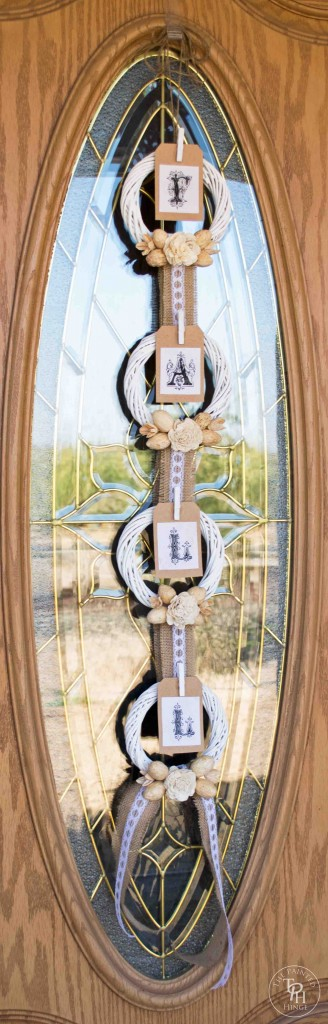 Shabby Chic Fall Banner Wreath Tutorial