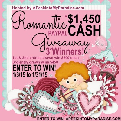 Romantic Cash Giveaway! Win $500 In Cash!!!
