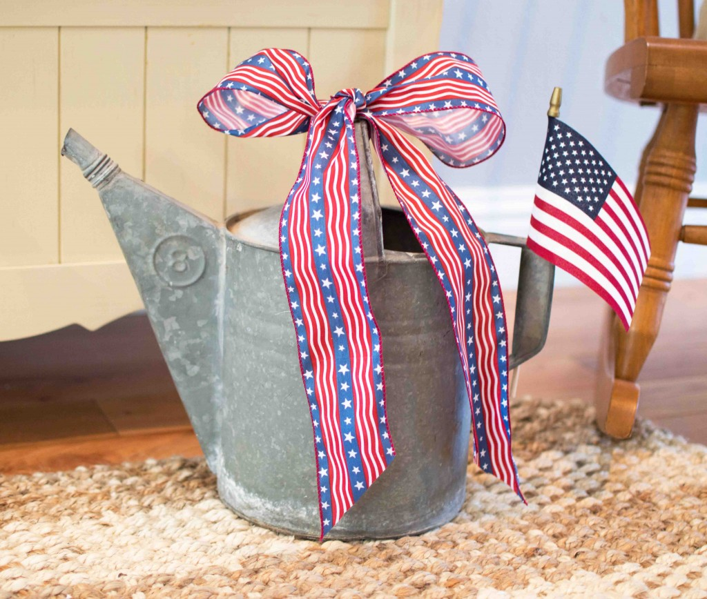 Patriotic 4th Of July Entryway Bench