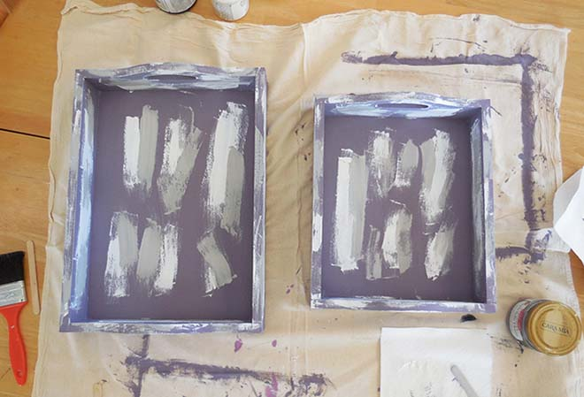 paint on the elmers glue i chose to paint the glue entirely over both trays because i wanted the chippy paint look everywhere but you can just want the - Painted Wood Castle 2015