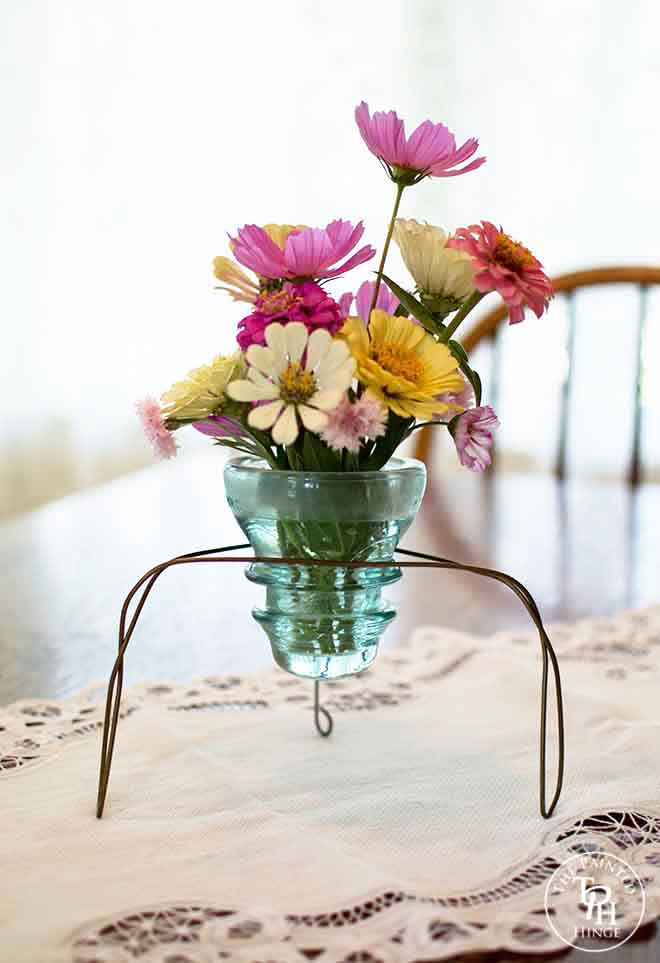 Electric Insulator Vase  {The Painted Hinge}