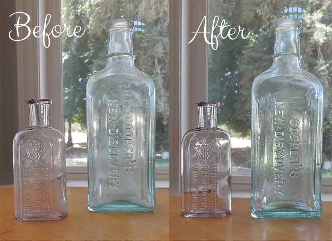 How to clean old bottles