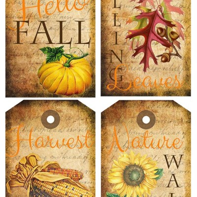 Fall Themed Tags Free Printables