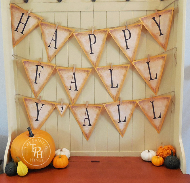 photo about Happy Fall Yall Printable known as Satisfied Tumble Yall Banner Free of charge Printables