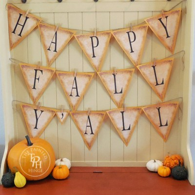Happy Fall Y'all Banner Free Printables