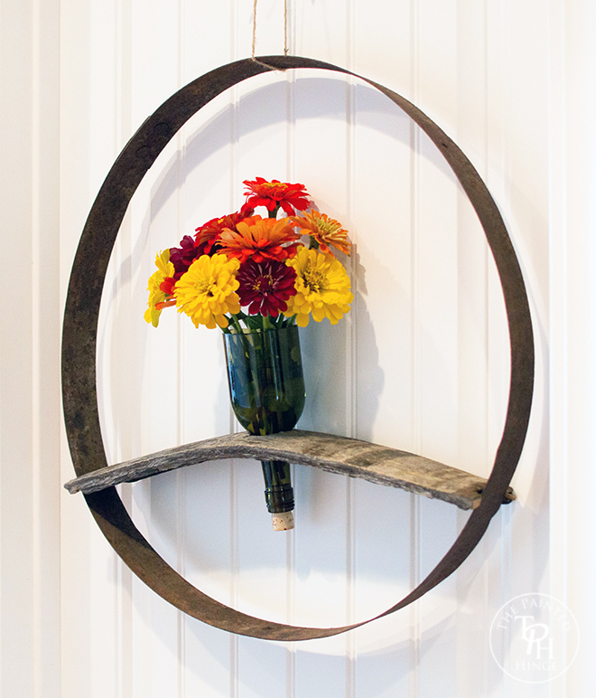 Wine Barrel & Bottle Wreath