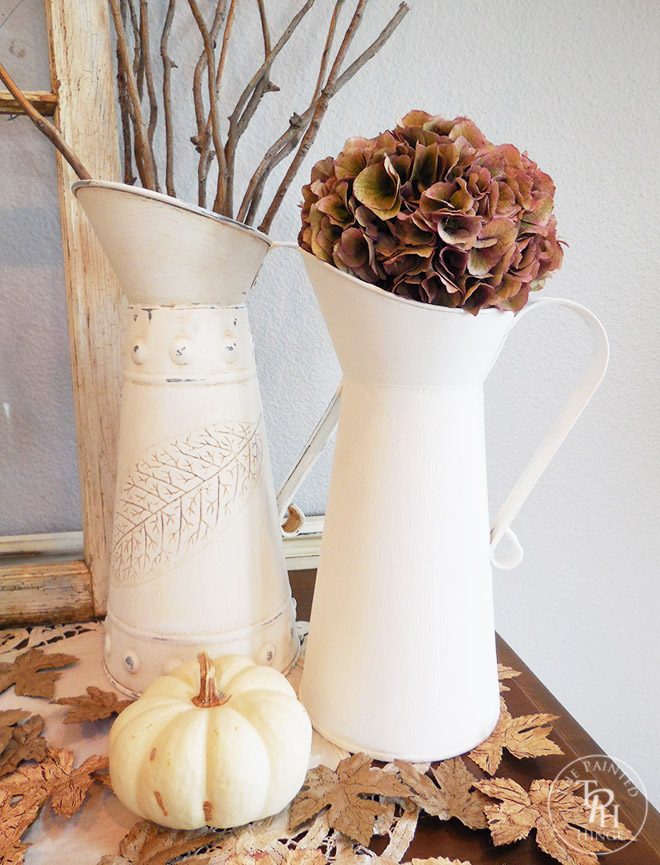 Galvanized Pitchers Chalk Paint Makeover