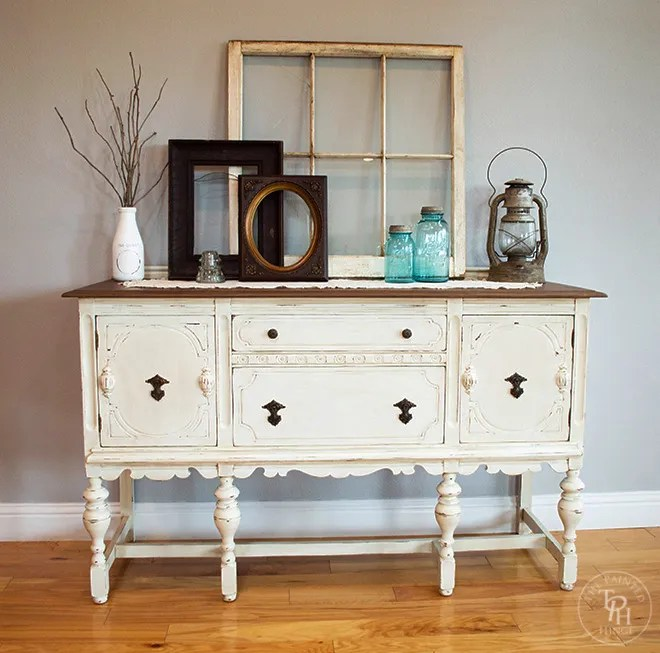 Sideboard Buffet Hutch Chalk Paint Makeover