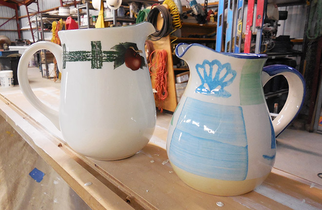 Flea Market Pitchers Makeover