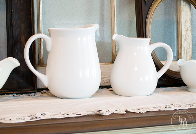 Thrift Store Pitchers Makeover
