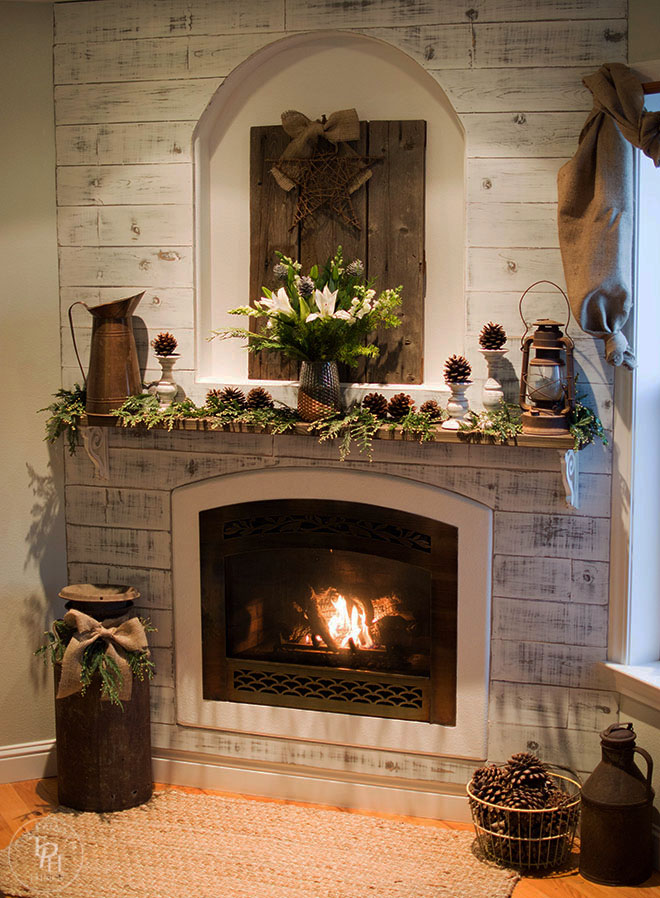 Christmas Fireplace Mantel Featuring ProFlowers Bouquet-25