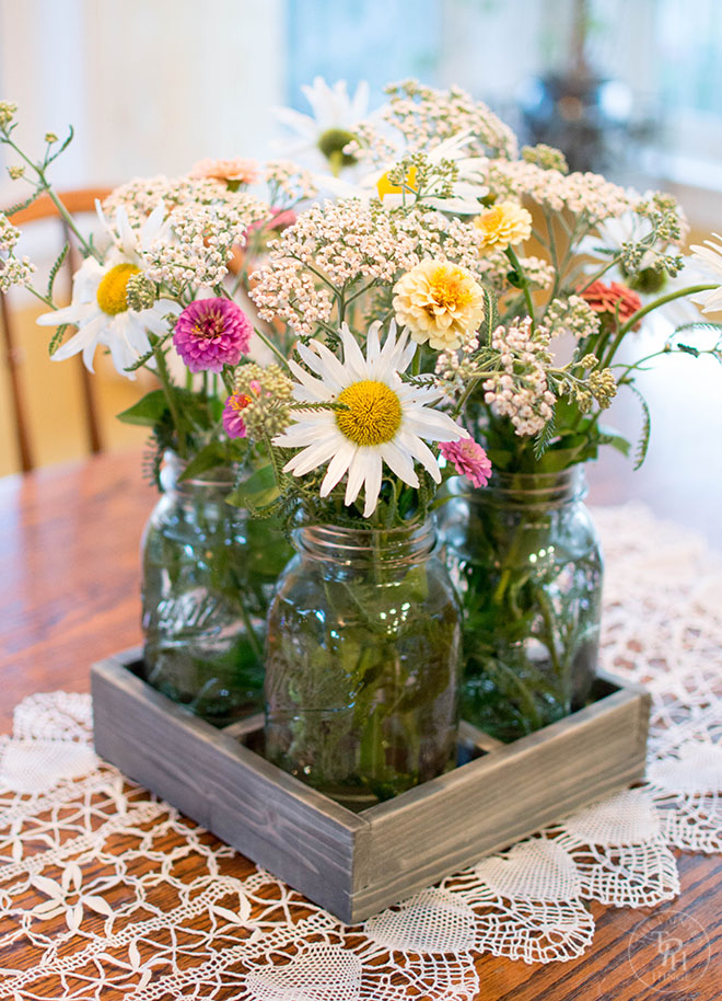 DIY Mason Jar Centerpiece Tray