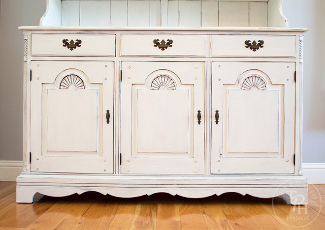 Farmhouse Hutch Makeover with County Chic Paint