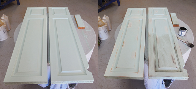 DIY Faux Window Shutters From A Repurposed Door