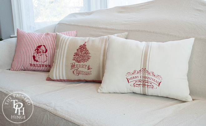 Christmas Pillows Made From Towels