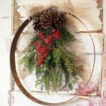 DIY Wine Barrel Ring Christmas Wreath 2.0