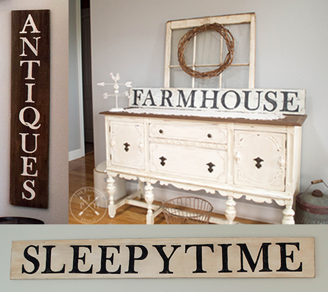 Free Printable & Traceable Letters For Making Farmhouse Style Signs!