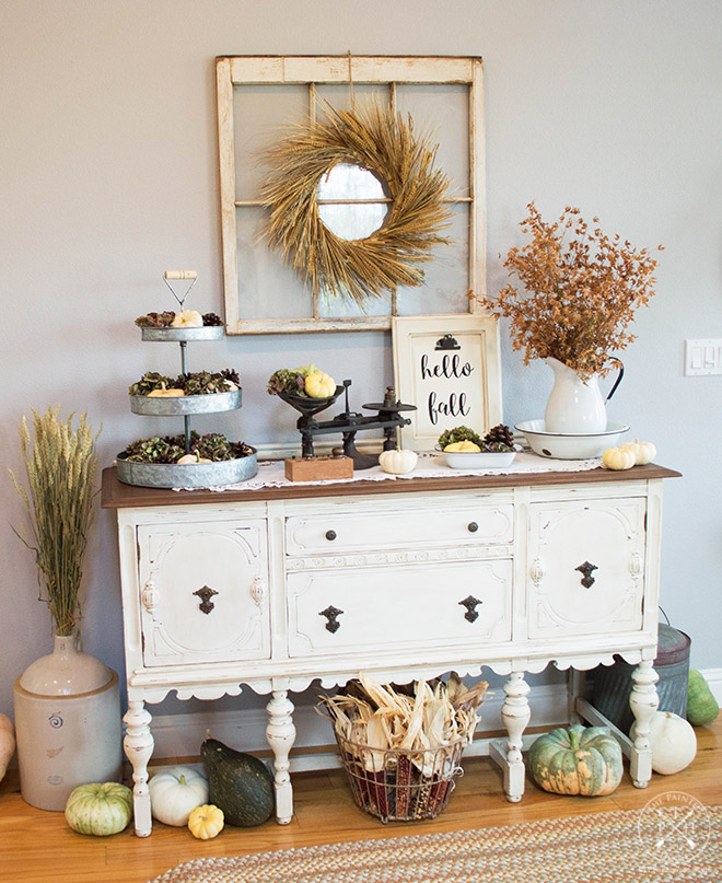 Farmhouse Fall Entryway 2017