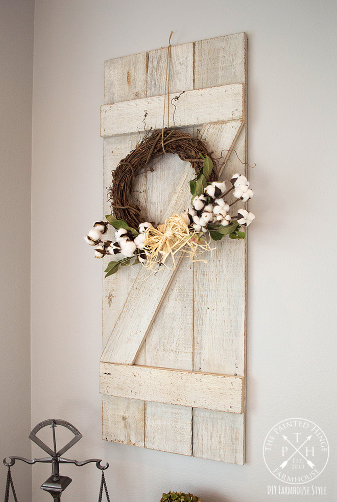 DIY Barn Door Shutters From Reclaimed Wood