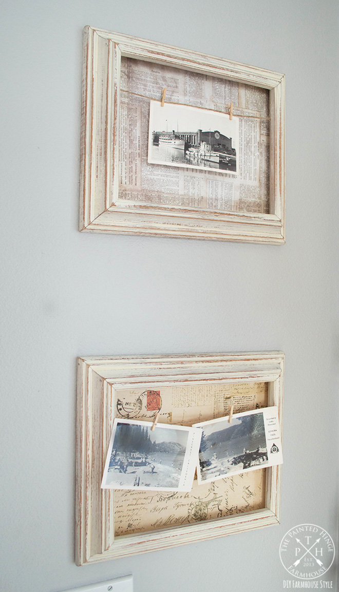 DIY Farmhouse Style 3-D Display Frames