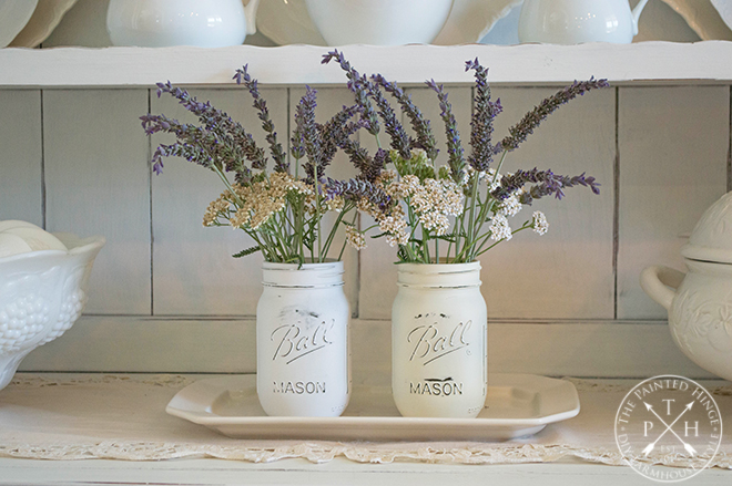How to Paint Mason Jars with Chalk Spray Paint