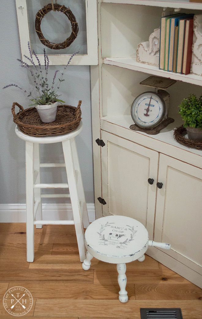 Milking Stool Makeover & Free Printable