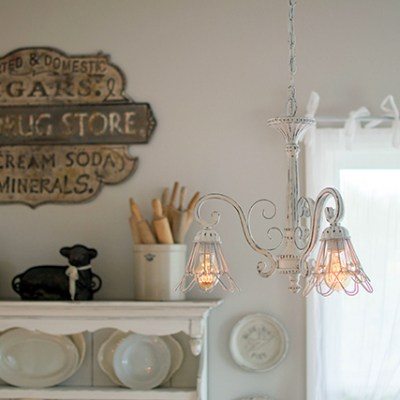 Chandelier Makeover with Chalk Spray Paint