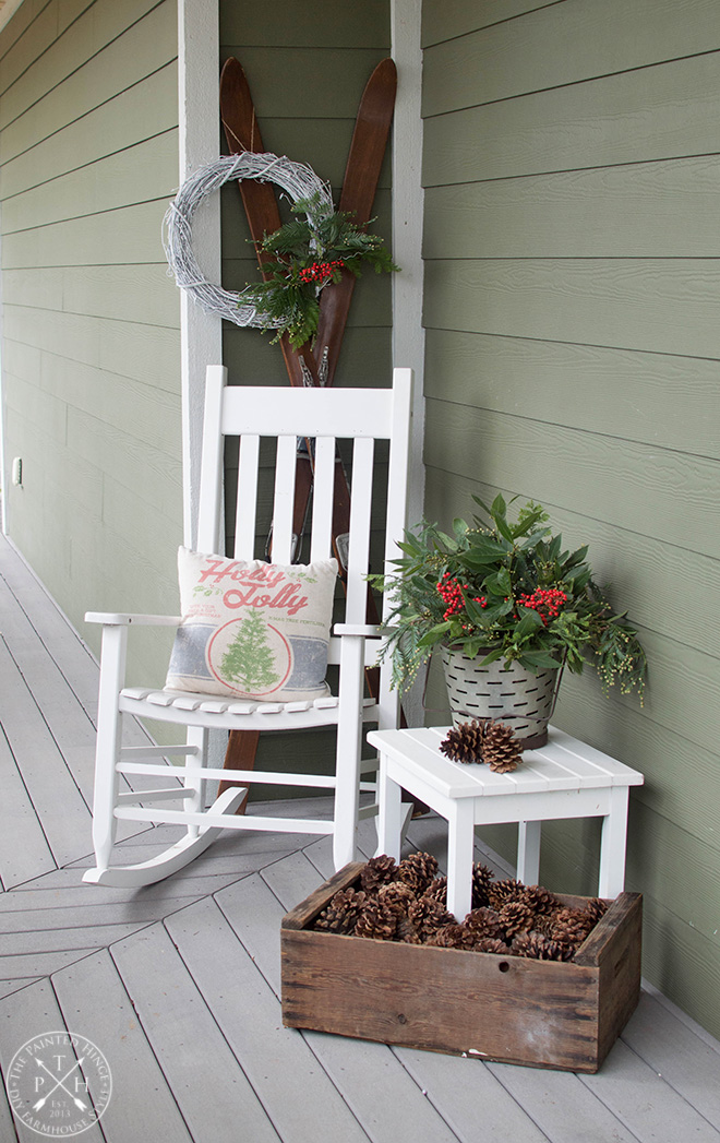 My Christmas Side Porch for 2018