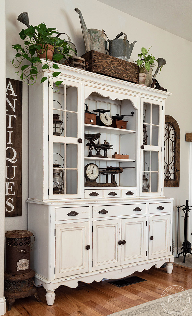 Vintage Hutch Makeover with Chalk Paint
