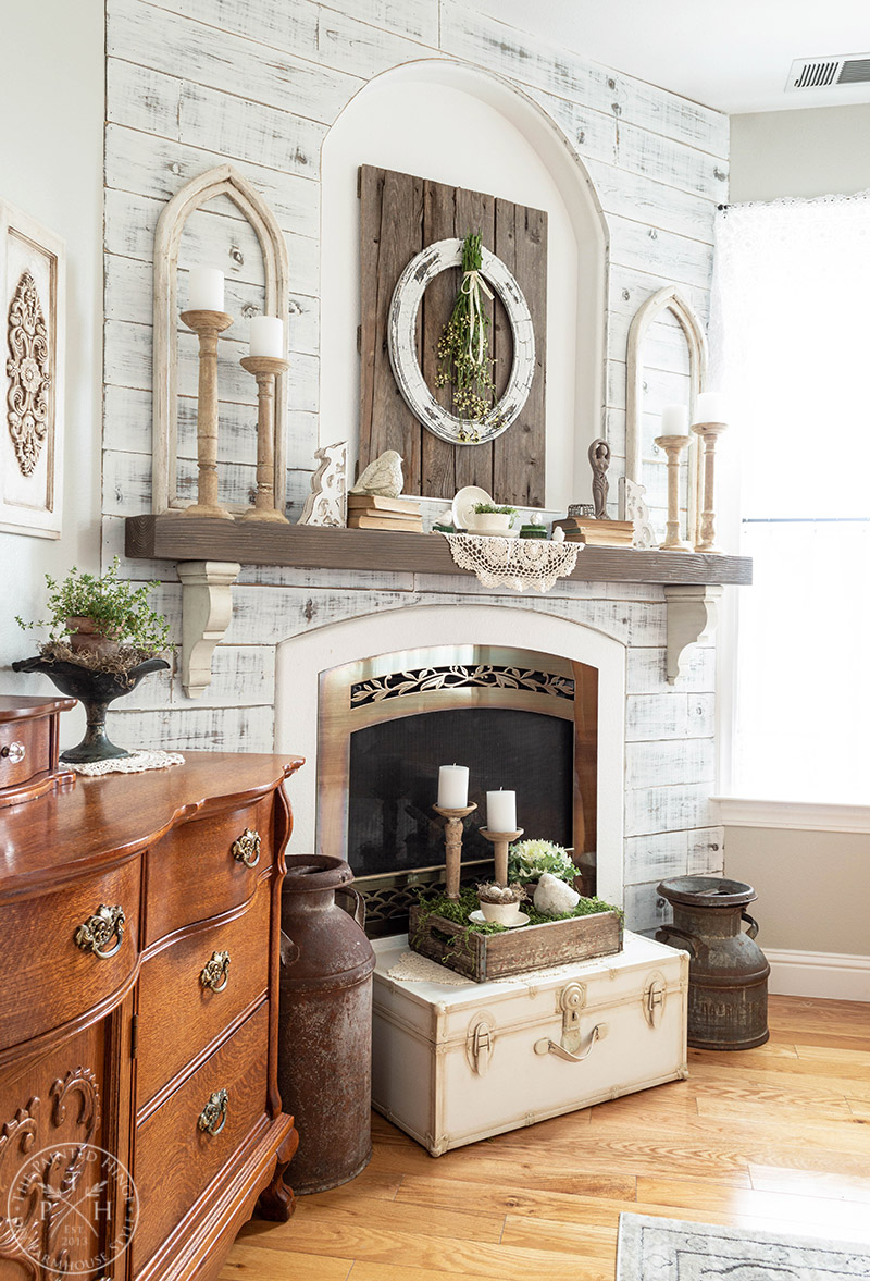 Spring Fireplace Mantel in the Master Bedroom